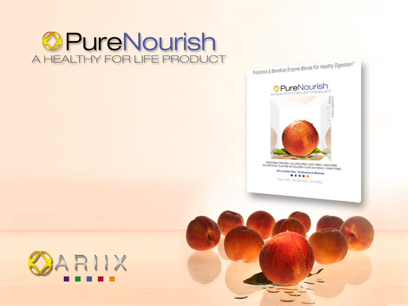 Ariix, Pure Nourish Peach Presentation Slides
