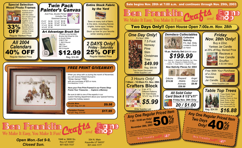 Desktop publishing for weekly Sunday newspaper insert advertising